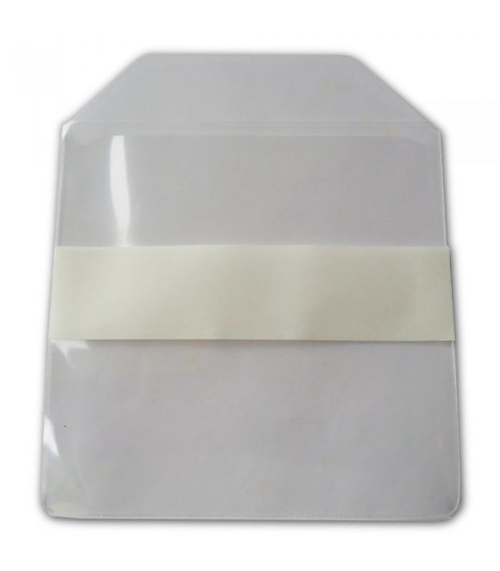 Pochette Plastique Transparente Souple Avec Rabat Fermeture