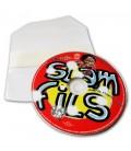Pressage cd pochette plastique transparente autocollant